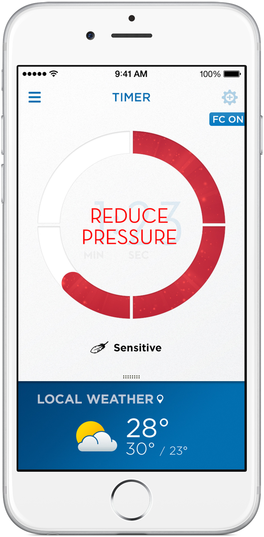 Oral-B app Pressure