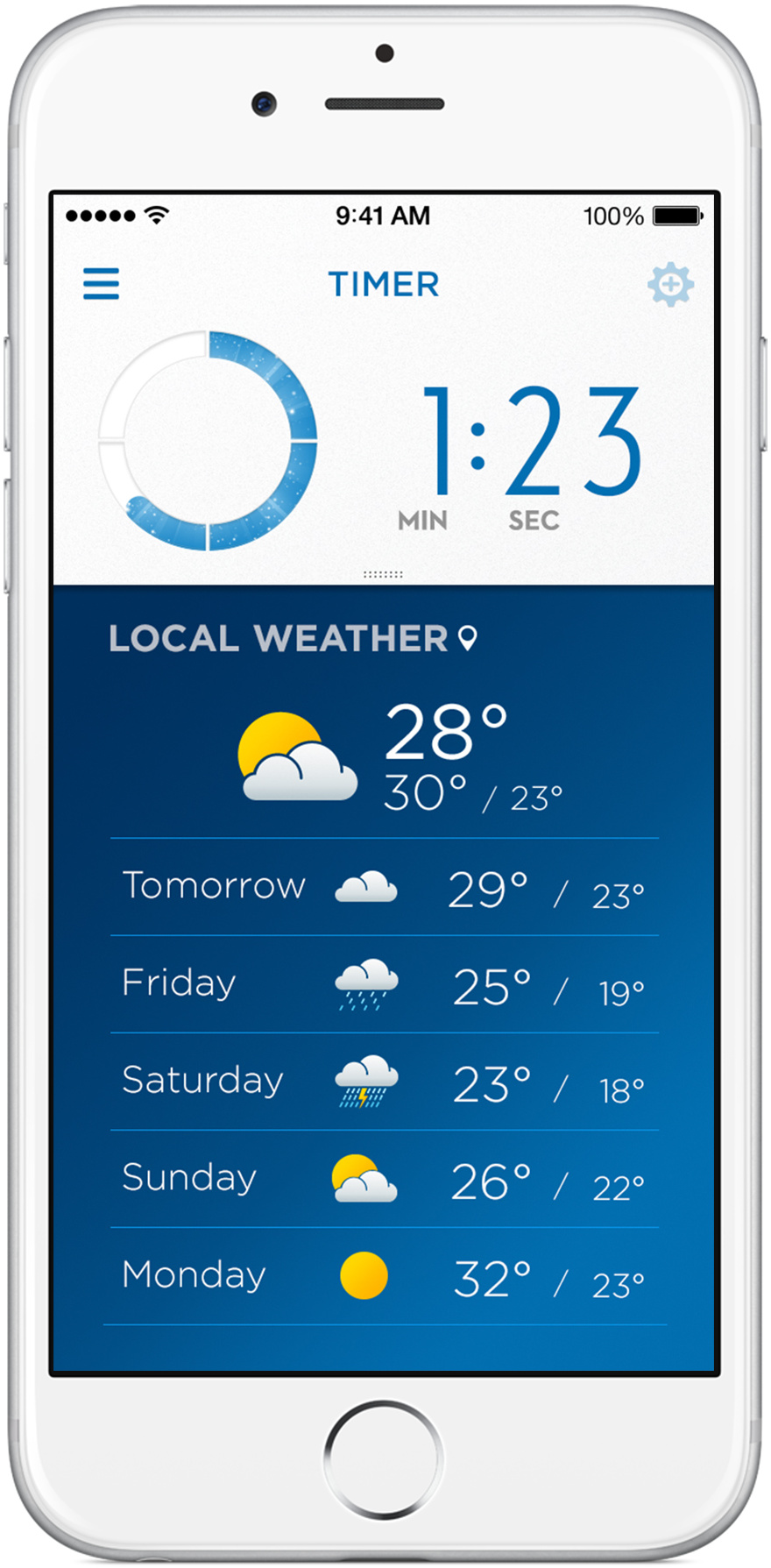Oral-B app Weather