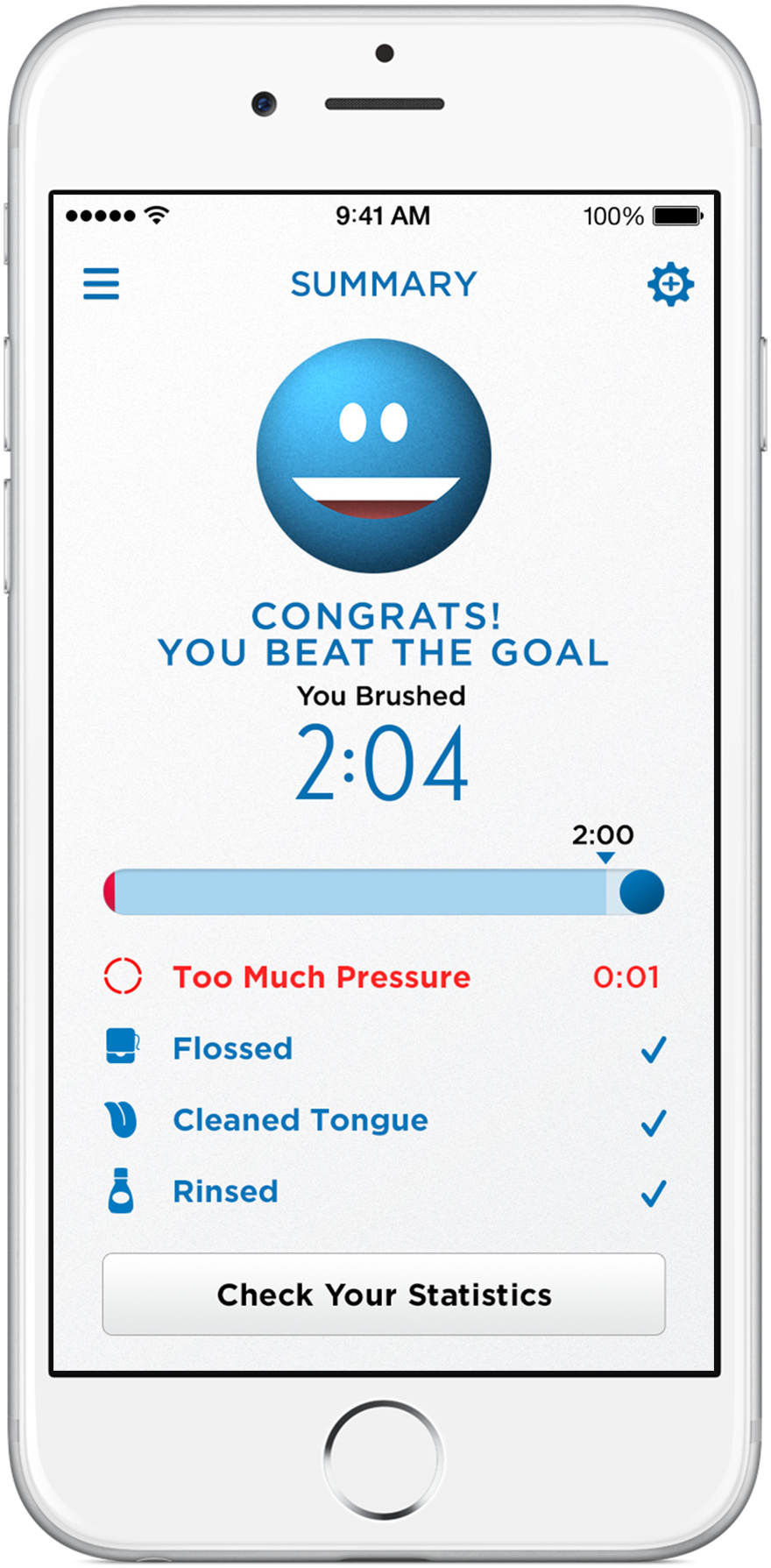 Oral-B app Summary